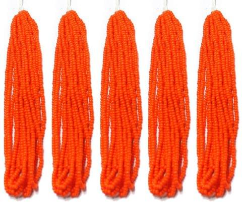 5 Bunch of Preciosa Seed Bead Strings 11/0 Opaque Orange