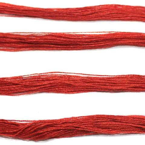 5 Bunch Colored Cotton Threads Red