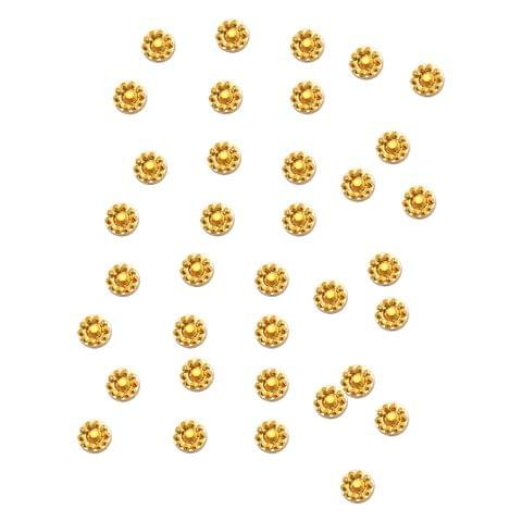 Buy 1 Get 1 Free Foppish Mart  Golden Circular Stones 200 pieces in each pack