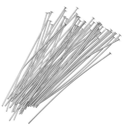 Silver Head Pin  jewelry Findings _100Pcs
