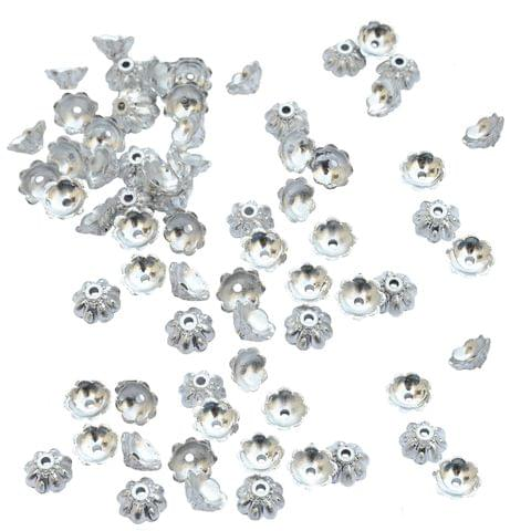 Foppish Mart Small Floral Bead Cap Fillers for Jewellery Making_100pieces