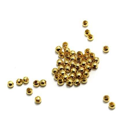 100 gm Golden Metal Balls 2mm, Approx 3000 Pcs