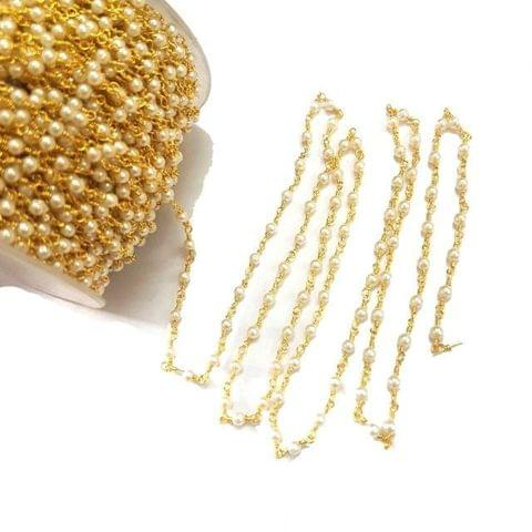 1 Mtr Acrylic Pearl Beaded Chain