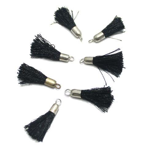 100 Pcs Silk Thread Tassel 1 Inch Black