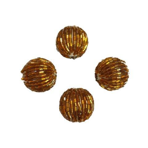 20 pcs, acrylic golden 24mm tube round shape beads with full hole