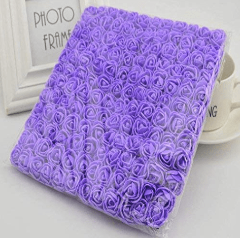 288pcs, Purple foam flowers for jewellery making, tiara making (2cm)