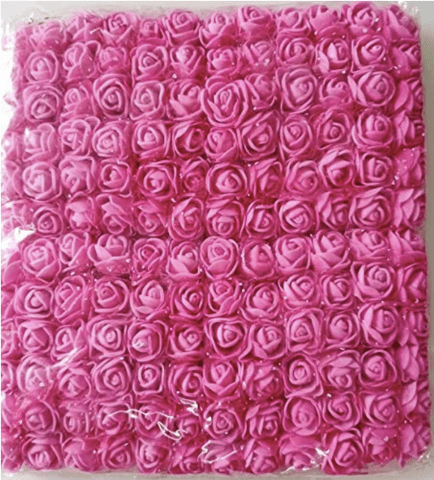 288pcs, Pink foam flowers for jewellery making, tiara making (2cm)