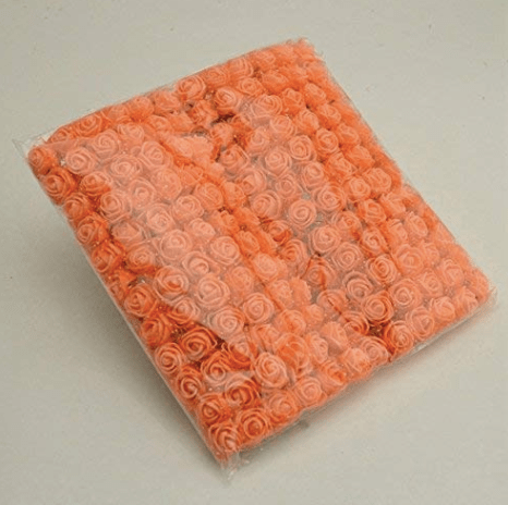 288pcs, orange foam flowers for jewellery making, tiara making (2cm)