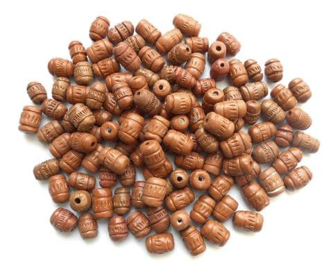 Brown Polished Clay Beads Combo 4