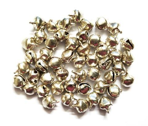 Silver Finish Metal Ghungroo Beads