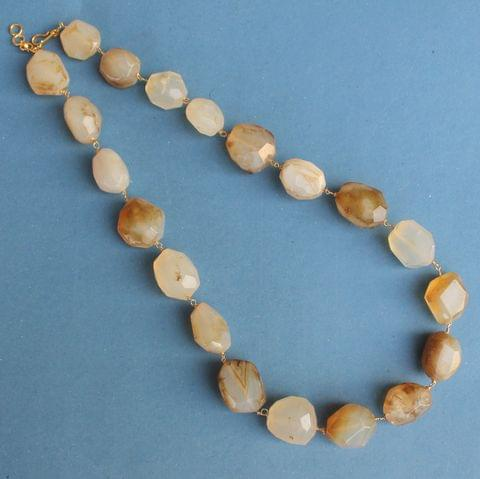 Translucent Citrine Faceted Necklace for Brightness and Positive Energy
