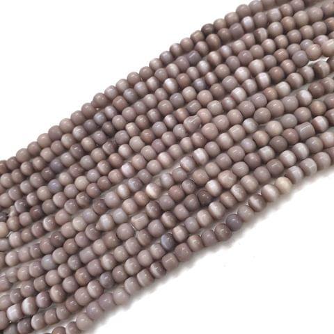 4 Strings, 4mm Light Purple Cat's Eye Bead Strings, 13 Inch (75+ Beads in each string)