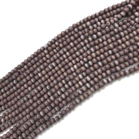 4 Strings, 3mm Light Purple Cat's Eye Bead Strings, 14 Inch (90+ Beads in each string)