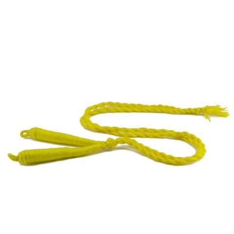 Aumni Crafts Handmade Jewellery Making Cotton Dori Back Rope Braided 1cm 18inch (Pack of 5 Pieces) [Color 6-> Lemon Yellow]