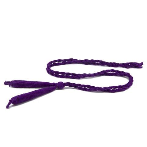Aumni Crafts Handmade Jewellery Making Cotton Dori Back Rope Braided 1cm 18inch (Pack of 5 Pieces) [Color 7-> Purple]