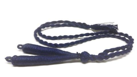 Aumni Crafts Handmade Jewellery Making Cotton Dori Back Rope Braided 1cm 18inch (Pack of 5 Pieces) [Color 9-> Dark Blue]