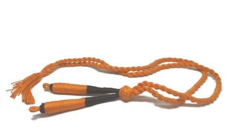 Aumni Crafts Handmade Jewellery Making Cotton Dori Adjustable Back Rope 1cm 17inch (Pack of 5 Pieces) [Color 8-> Orange & Black]