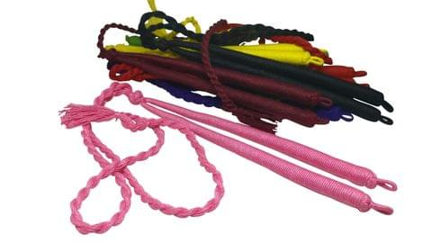 Aumni Crafts Handmade Jewellery Necklace Making Adjustable Cotton Dori Back Rope Braided Cord 18inch Long 1cm Thick Cord Assorted Colors (Pack of 10 Pieces)