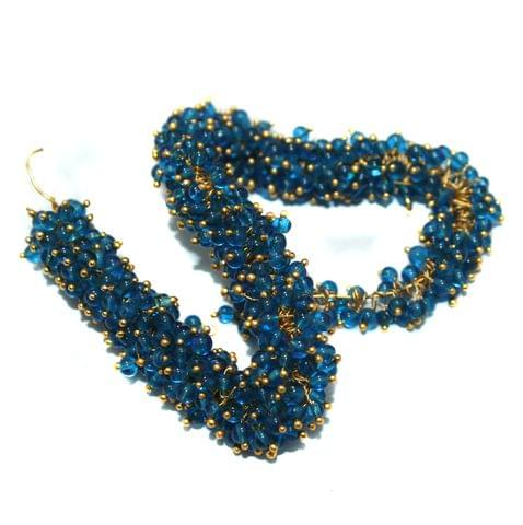 Loreal Glass Beads Blue 4mm For Earring, Necklace and Bracelet