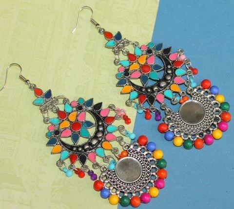 Multicolor Afghani Mirror Earrings