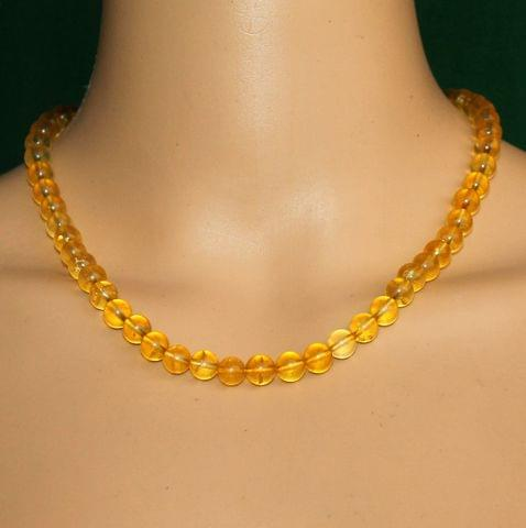 Citrine Gemstone Necklace helps remove negativity