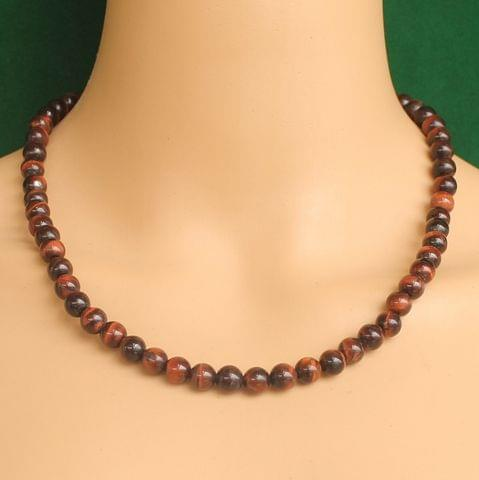 Red Tiger Eye Stone Necklace to support Motivation