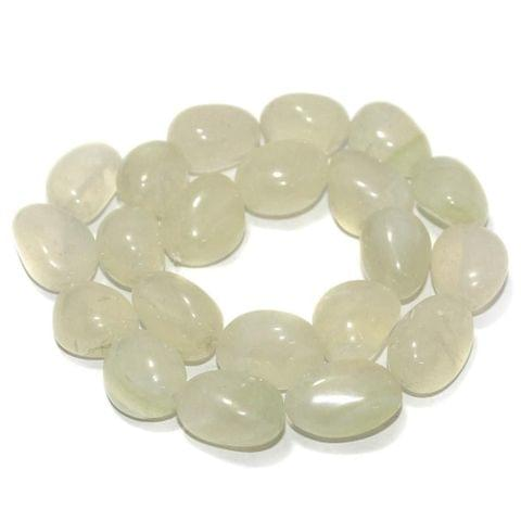 Tumbled Light Peridot Onyx Stone Beads 20-15 mm