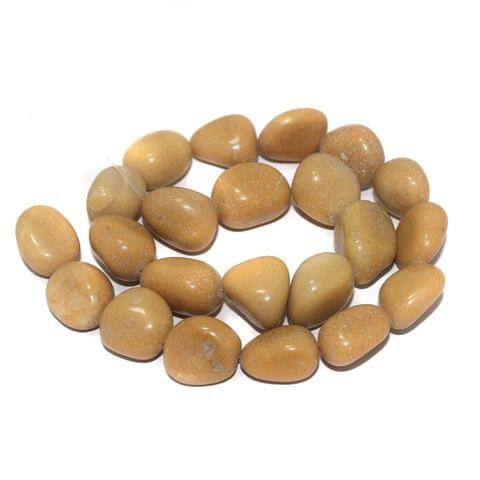 Tumbled Camel Jasper Stone Beads 20-15 mm
