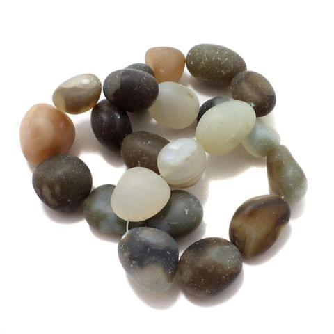 20+ Frosted Stone Beads 15-24 mm