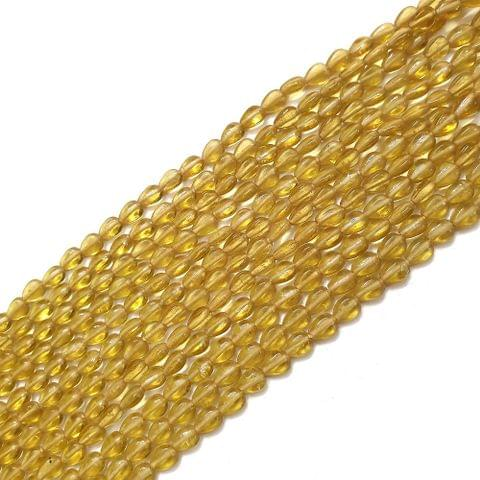 Light Yellow Drop Glass Bead Strings