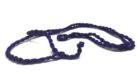 Handmade Jewellery Making Cotton Dori Rope Purple Pack of 5 Pieces 30inch