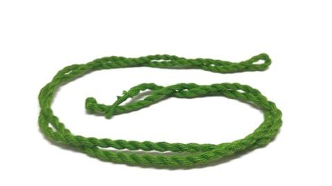 Handmade Jewellery Making Cotton Dori Rope Green Pack of 5 Pieces 30inch