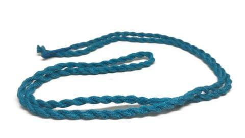 Handmade Jewellery Making Cotton Dori Rope Blue Pack of 5 Pieces 30inch