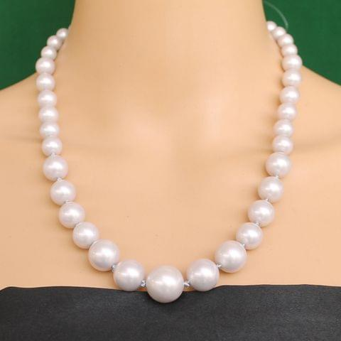 Graduated Shell Pearl Beads Necklace Violet