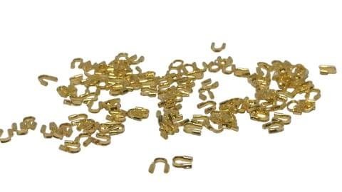 Jewellery Making Brass Wire Guardians (100 Piece) 5x4mm Hole:0.5mm Thickness 1mm Curved Gold Color