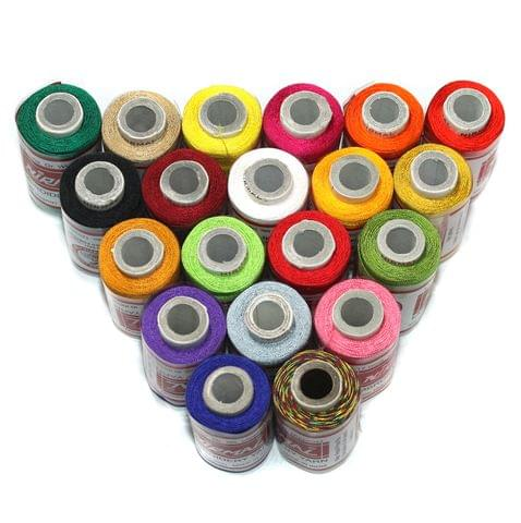 BeadsnFashion Silk Embroidery Jewellery Making Thread Pack of 20 Pcs
