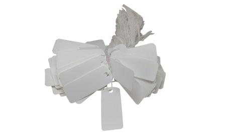Paper Price Tags for Jewellery Garments Multipurpose 3.5x1.3cm Rectangle White (Pack of 190 Tags)
