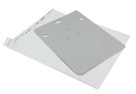 Paper Necklace Display Cards 19x14cm with Covers Rectangle White (Pack of 30 Pieces)