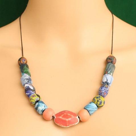 Ceramic Beaded Necklace MultiColor