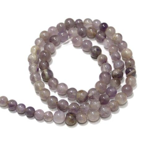 Amethyst Light Gemstone Beads, Size 05-07 mm, Pack Of 1 String
