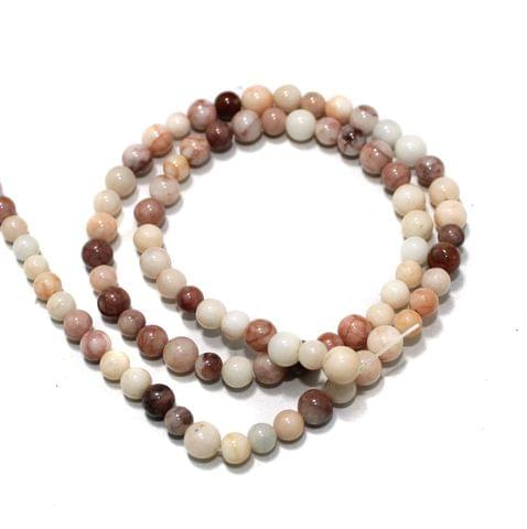 Peach Assorted Gemstone Beads, Size 05-07mm, Pack Of 1 String