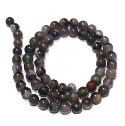 Amethyst Gemstone Beads, Size 07-09 mm, Pack Of 1 String