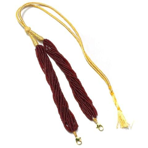 Seed Beads Pendant Dori Maroon, Pack Of 1 Pc