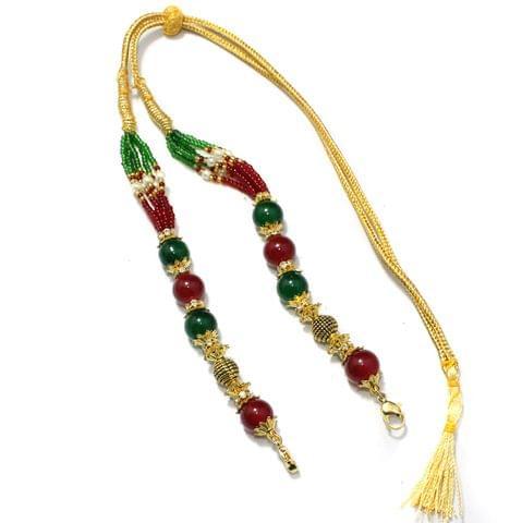 Designer Beaded Necklace Dori Multi, Pack Of 1 Pc