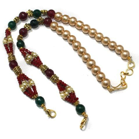 Designer Crystal Faceted Beaded Necklace Dori Multi, Pack Of 1 Pc
