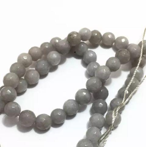 L.Gray Agete Beads 6MM, 2 Strings