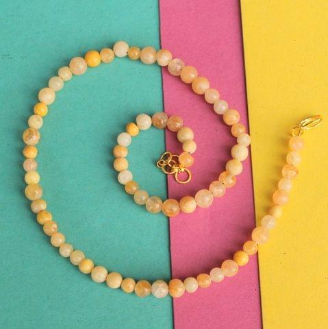 Golden Gemstone Necklace