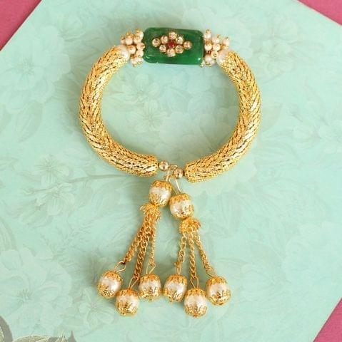 Green Ranita Kundan Bracelet