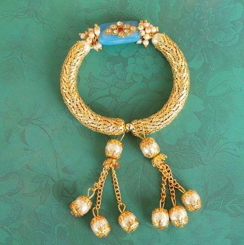 Turquoise Ranita Kundan Bracelet
