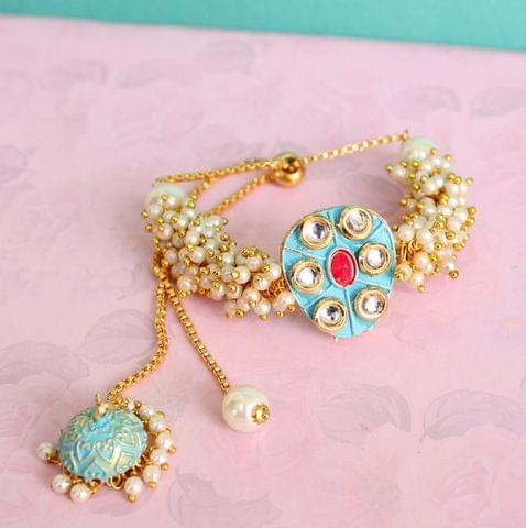 Jasmin Kundan Bracelets Turquoise